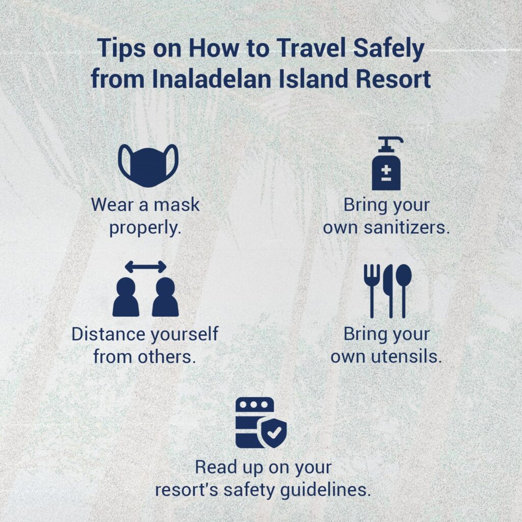 An image that informs people on how to stay safe while travelling.